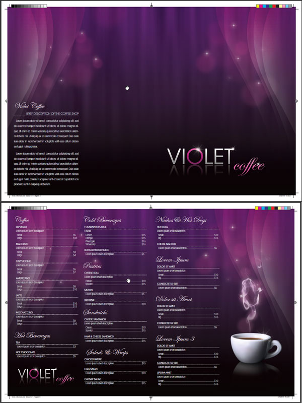 menu indesign