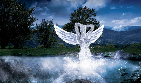 Create an Angelic Sculpture Made of Ice in Photoshop