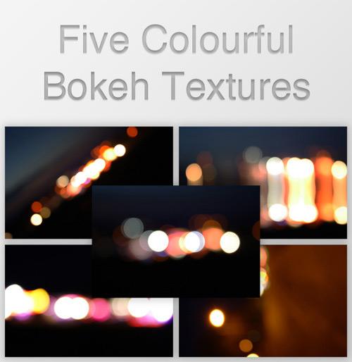5 красочных текстур бликов
