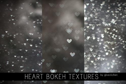 3 текстуры бликов-сердец