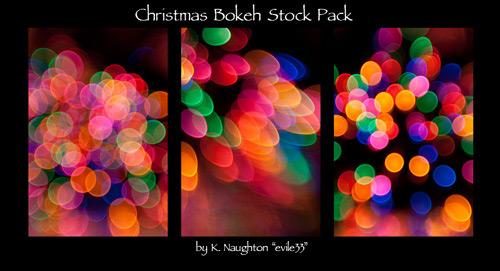 Рождественский набор из 15 текстур с бликами