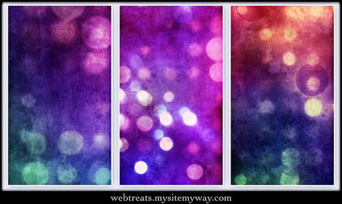 3 текстуры абстрактных бликов в стиле гранж