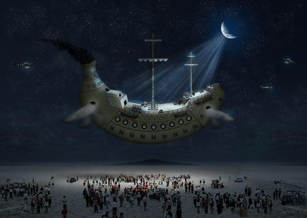 How to Create a Fantasy Banana Ship in Photoshop