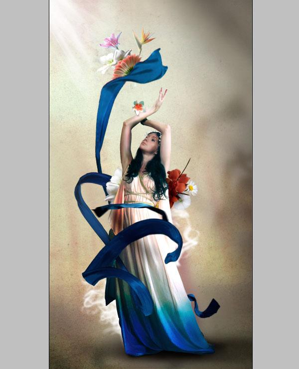 Cómo crear Fantasticos Destellos, Foto Manipulación PSD, Photoshop 32