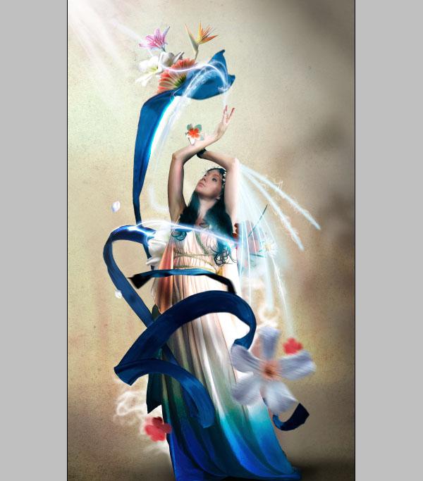 Cómo crear Fantasticos Destellos, Foto Manipulación PSD, Photoshop 43
