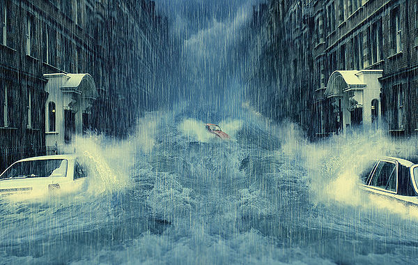 How to Create a Photo Manipulation of a Flooded City Scene