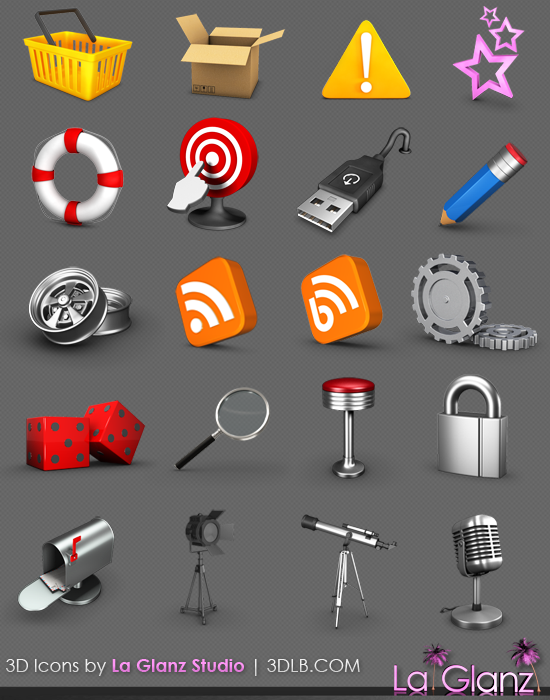 20 3D icons