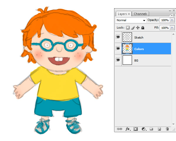 How to Create a Fun, Red-Haired Boy Character Cartoon ...
